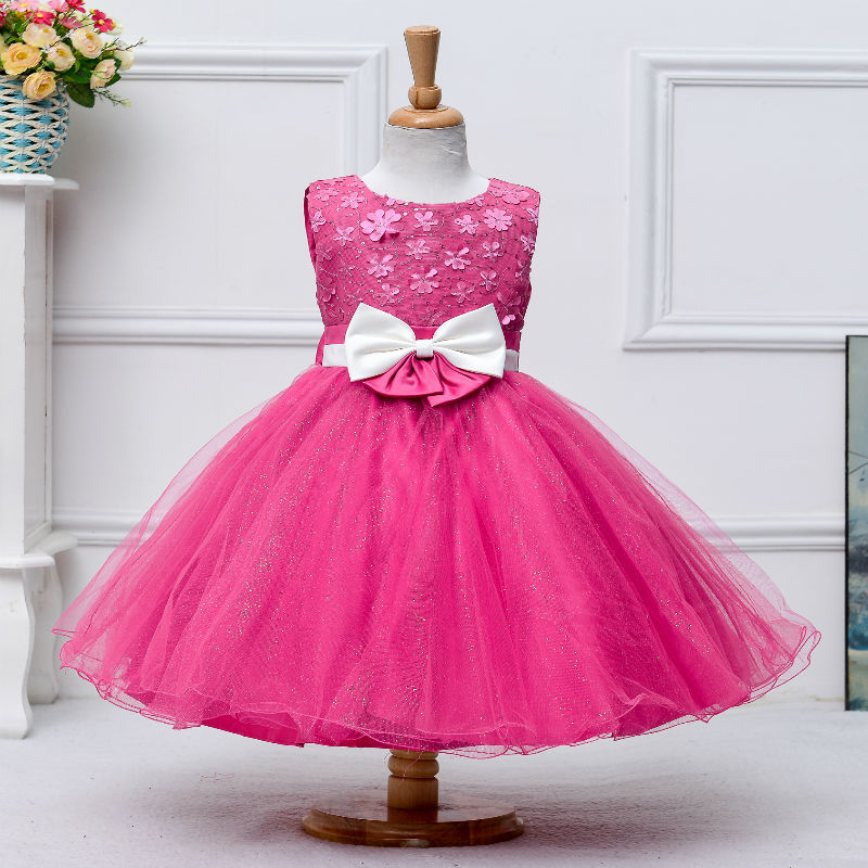 Wholesale Ball Baby Sequin Princess Dress Children Christening Party Dress L2089
