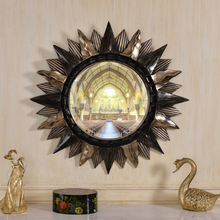 36112 unique decorative star shaped wall mirror antique framed mirror