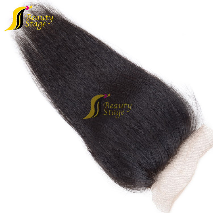 Natural color wholesale unprocessed no tangle no shedding balmain hair extensions, cheap frontal closure natural hairline