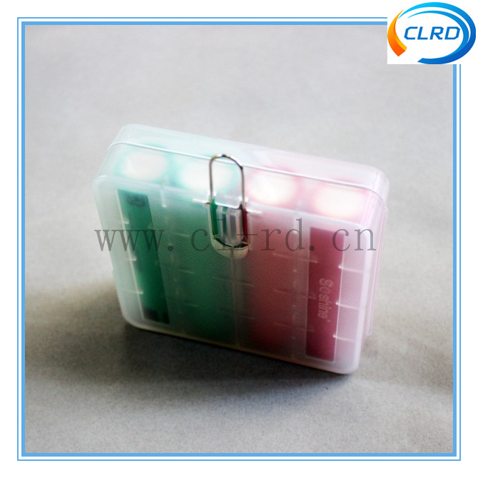 Lovely Design 4*18650 Plastic Battery Storage Case/Box For Li-ion Batteries