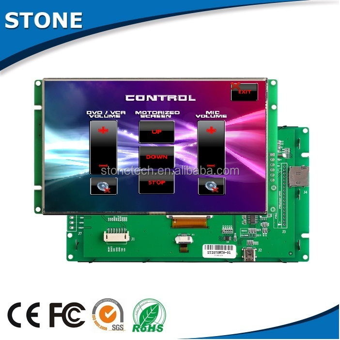 Chinese touch screen monitor 15 inch tft lcd interface control
