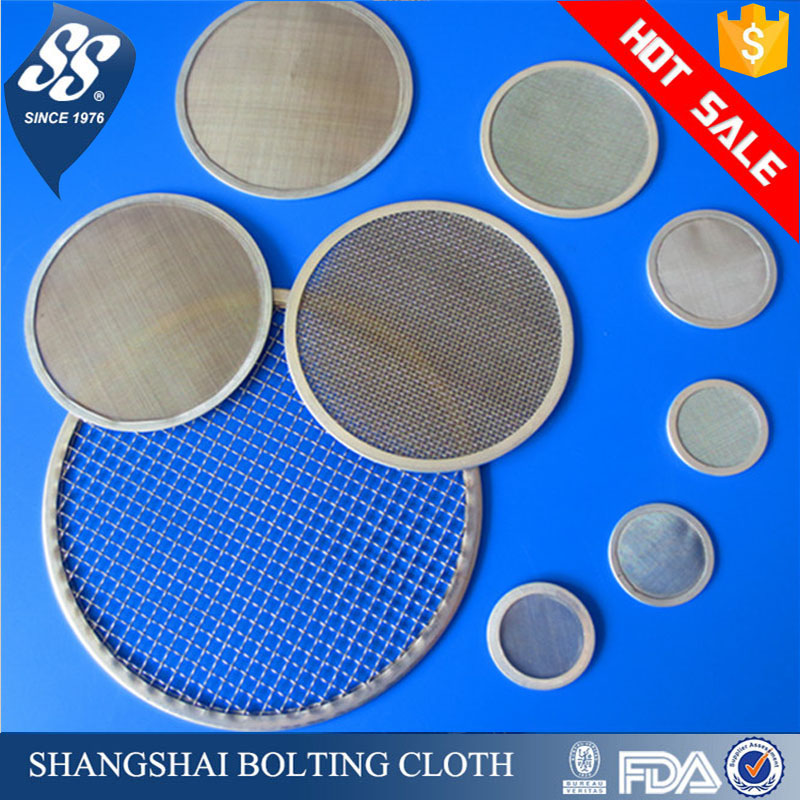 fine 5 10 20 50 100 200 300 400 micron 304 stainless steel filter mesh, screen filter disc