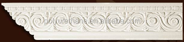 High quality polyurethane moulding HD A087 decorative polyurethane cornice moldingfor interior design eps foam building cornices