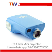 Best Gift For Kids Education Home Use 50 Lumens E03 Mini HD LED Proyector