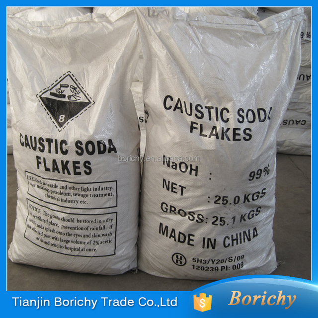 caustic soda flake 98.5% industry chemicals