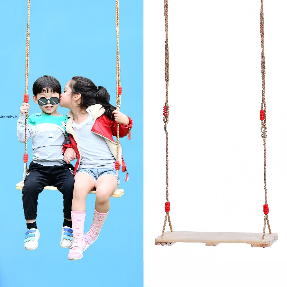safe patio children adults wooden board swing seat for kids