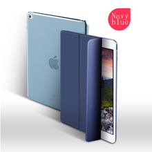 Joy Color New Color Clear Back Cover Auto Wake-Up Smart Case For iPad 9.7 New For ipad 2017