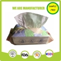 Natural material softly wet dry wipes