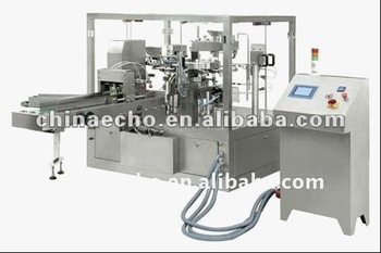 CE Aproved Automatic rotary food packaging machine filling sealing zipper machine