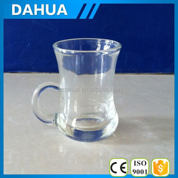 120ml 4oz glass cup manufacturer glass cup with handle