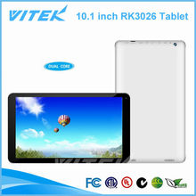 Free Android 10.1 inch DDR3 1GB RK3026 Tablet PC 4000mAH Battery