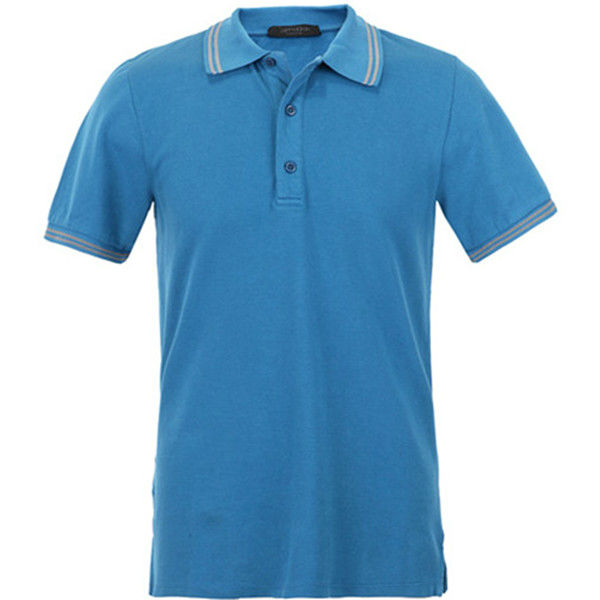 China custom made short sleeve polo shirt staff work for Custom polo shirt manufacturers