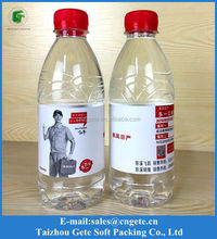 Customized Plastic Mineral Water Transparent Bottle Label