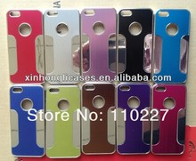 Luxury Brushed Aluminum Chrome Hard Case For iPhone 5 5G With Low Price