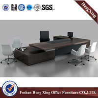 50mm thickness wooden L shape executive office table (HX-5DE359)