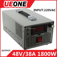 GOOD quality 48V 38A 1800W digital display adjustable switching regulated adjustable dc power supply