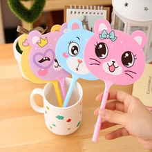 Australia best selling stationery items cartoon animal fan design china ball pen <strong>Promotions</strong> flat ballpoint pen
