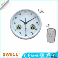 hot sale wall kitchen clock radio , clock wall with temperature and humidity