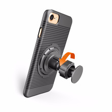 8 in 1 anti-shock protective hard rugged phone case with ring holder stand work with magnetic car mount for iphone 7 8 X 10 plus