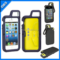 silicone TPU mobile phone case with clip function for outdoor sports for iphone5