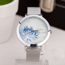 2014 world cup gifts fashion silver metal band lotus wrist watch wholesale on alibaba