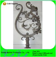 Wrought Iron Dragon Newel Posts For Sale