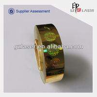 Laser adhesive label sticker in roll form for cigarette box