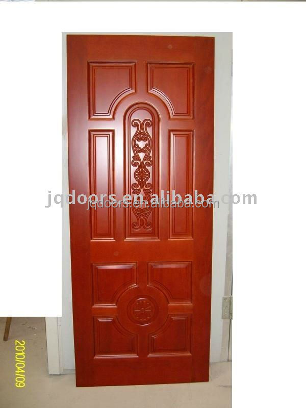solid red walnut wood door,mahogany wood door,100% wooden door