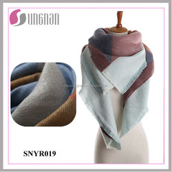 2015 Warm Comfortable Ladies Geometry Imitate Cashmere Shawl Scarf