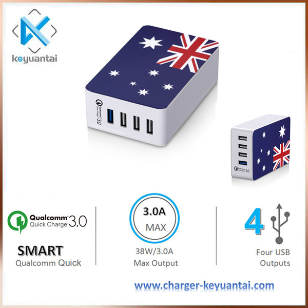 phone accessories mobile multi usb charger, 38W USB Qualcomm Quick Charger usb phone charger