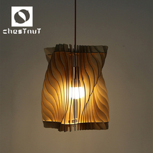 Rustic wood pendant lighting chandelier