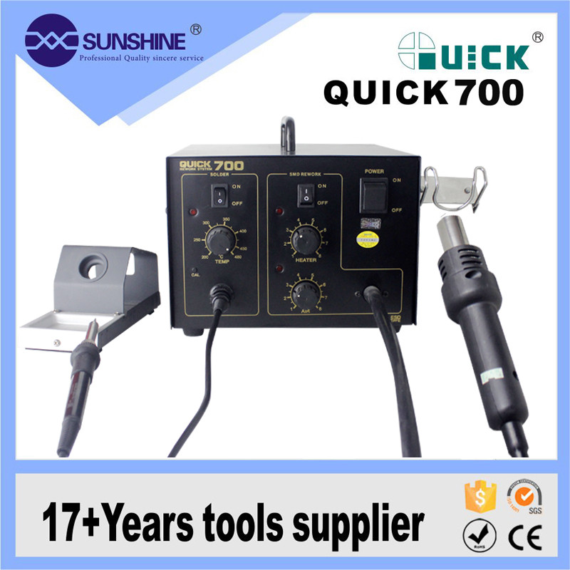 Wholesale Portable 2 In1 Quick 700 Hot Air Smd Rework Soldering Station