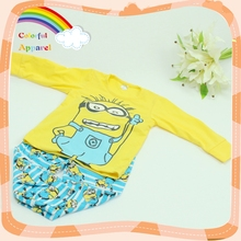 Children age group cartoon Minions pattern sleepwear for kids