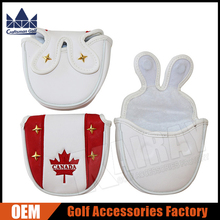 Factory Direct CRAFTSMAN GOLF Mallet Putter Headcover, Red Maple Leaf Golf Covers
