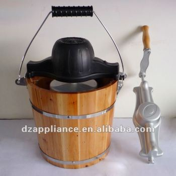 4QT ORIGINAL WOODEN BUCKET ICE CREAM MAKER