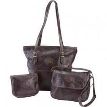 embassy italian stone genuine leather 3pc purse set