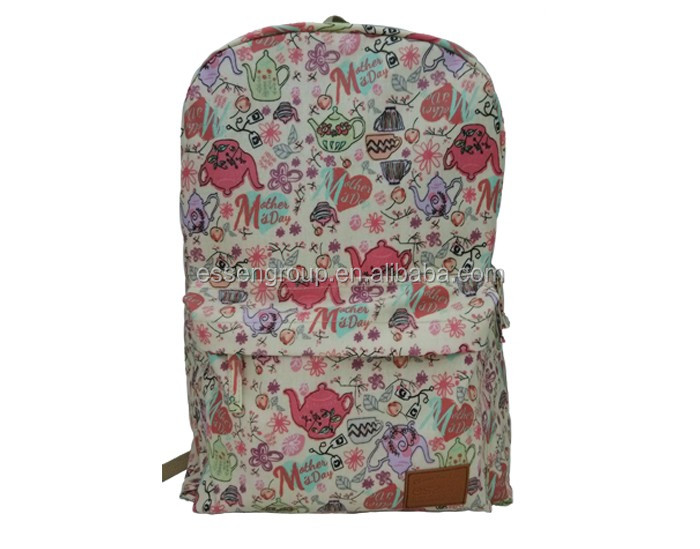 good quality school rolling backpack flower