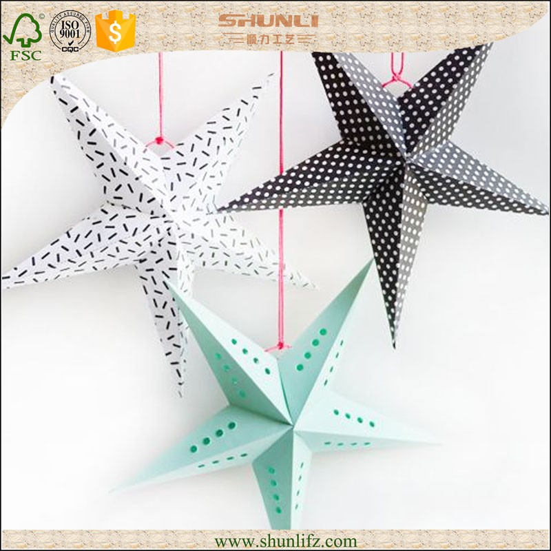 Christmas Decoration Paper Stars Colorful christmas design lovely christmas decoration star