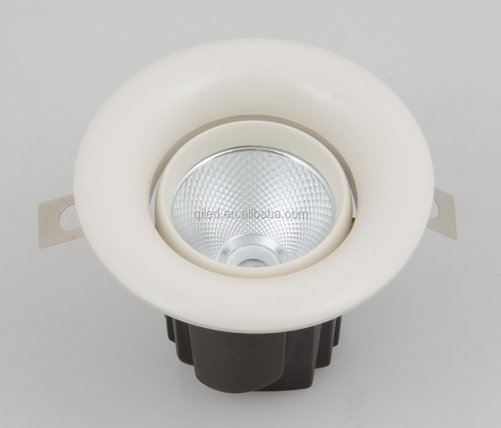 IP54 3 inc adjustable anti-glare cob downlight round flat 12w recessed cob led down lights indoor dimmable cob led ceiling light