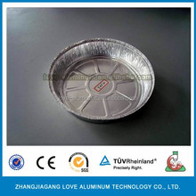 Disposable Round Aluminum Foil serving platters and tray