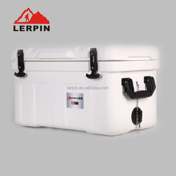 35qt Lerpin Outdoors Rugged Hunting & Fishing Cooler in white