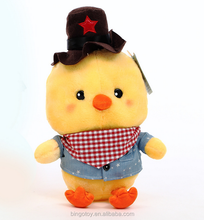 Soft fabric animal plush toys, baby chicken plush toys stuffed wholesale