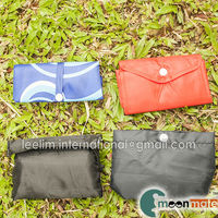 foldable nylon bag with small pouch carrier bag recycle bag