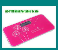 Light & Mini Size Tempered Glass Bathroom Scale