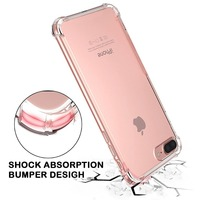 Shock Absorption Bumper Crystal TPU Case With Hard Plastic Clear Cell Phone Case For Iphone 7 Transparent Price