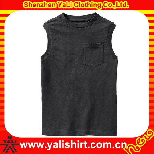 Black 100% cotton crew neck men casual singlet mens tank tops in bulk made in china