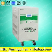 mingch three phases 3 phases relay servo motor control type AC fully AVR automatic voltage regulator stabilizer factory supplier