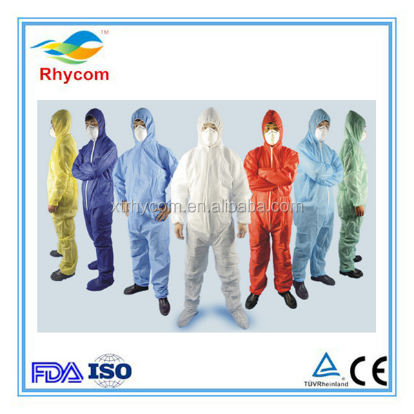 China manufacturer SMS various color medical and surgical coverall Protective Painting Decorating Unisex Coverall protective