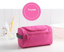 Travel Toiletry Bag, Hanging Cosmetic Makeup Shower Bag With Large Compartment