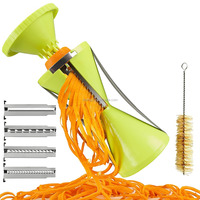 kitchen help tool 4 blade small spiral slicer vegetable noodle makeing machine spiralizer veggies cutter